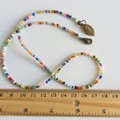 Unique Artsy Modern style Colourful Rainbow seed bead layered bracelet , No3