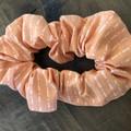 Orange Stripe Scrunchies