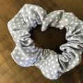 Grey Spots Scrunchies