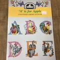 """Book - Cross Stitch DMC """"A"""" is for Apple"""