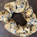 Mustard Floral design Scrunchies