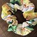 Lemon Cotton Linen Scrunchies