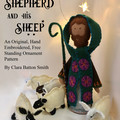 Shepherd and His Sheep ~  PDF Nativity pattern Hand Embroidery