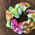 Summer Fruits Cotton Linen Scrunchies