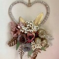 Romance - Heart floral hoop - Dried flower - 17cm - Natural -  Boho Christmas