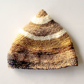 Double Crocheted Adult Beanie in Browns