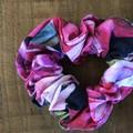 Black Rose Cotton Linen Scrunchies