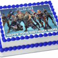 Fortnite Rectangle Edible Icing  Personalized  Cake Topper #944