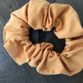Orange  Cotton Linen Scrunchies