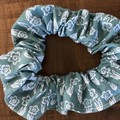 Sage floral Scrunchies