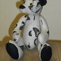 OOAK Grey Fabric Teddy Bear