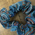 Blue waves Scrunchies