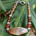 Agate & carnelian bracelet.