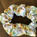 Sunflowers and Bull Skulls Scrunchies