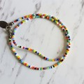Simple Tribal Hippie style Colourful Rainbow seed bead layered bracelet , No2