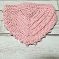 Crochet Cotton Dribble Bib