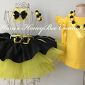 3-pcs set Yellow and black tutu outfit