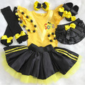 3-pcs set Personalised yellow and black outfit