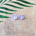 Geometric Cross Minimalist Plaid Circle Polymer Clay Statement Stud Earrings