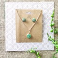 Cute Minimalist Boho Fine Jewelry Polymer Clay Statement Earrings Necklace Set