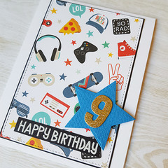 Boys Birthday Card, Kids Birthday Age Card