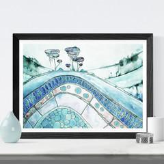 Landscape Art, Watercolour Art, Printable Art, Instant Digital Download