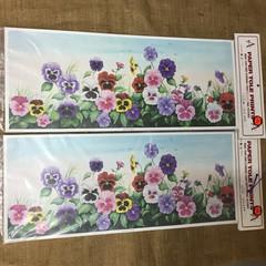 Paper Tole Prints - Pansies