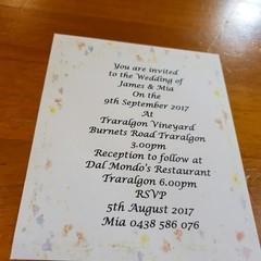 FLORAL WEDDING INVITATION SAMPLES