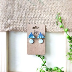 Cute Minimalist Boho Gradient Polymer Clay Statement Stud Earrings