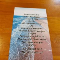 BEACH THEMED WEDDING INVITATION SAMPLES