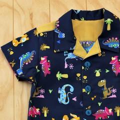 Dashing Dinos - Boy's Button up Shirt - Size 2