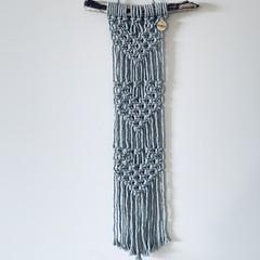 Long macrame (grey) wall hanging