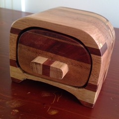 Handmade Box with drawer for small collectables, rings etc