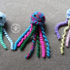 dangling crochet jellyfish
