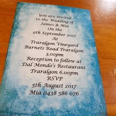 BLUE INVITATION SAMPLES