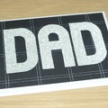 Dad Happy Birthday card or Fathers Day - 2 colours