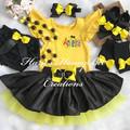 3-pcs set Yellow and black tutu  outfit