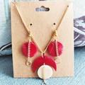 Minimalist Boho Moon Fine Jewelry Polymer Clay Statement Earrings Necklace Set