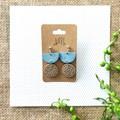 Blue Minimalist Boho Fine Jewelry Polymer Clay Statement Earrings Necklace Set