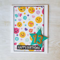 Teen Girl Birthday Card, Emoji Birthday Age Card
