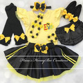 5pcs set Personalised Yellow Wiggles Emma inspired outfit