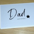 Dad Happy Birthday card or Fathers Day - black & white