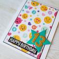 Teen Girl Birthday Card, Emoji Birthday Age Card