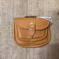 Brown Leather Handbag for a doll or teddy bear