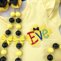 6-pcs set Yellow and black outfit