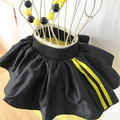 3-pcs set Personalised Yellow Wiggles inspired outfit- yellow and black tutu set