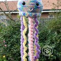 dangling crochet jellyfish