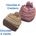 Icecream flavour colours to brighten the day: beanies for adults and children,