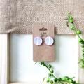Geometric Cross Minimalist Plaid Circle Polymer Clay Statement Stud Earrings