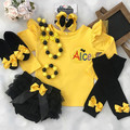 3-pcs set Yellow and black outfit